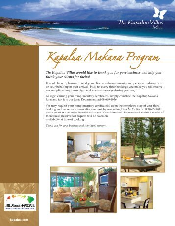 Kapalua Makana Program - All About Hawaii