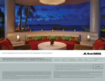 BOOK PARADISE FOR YOUR CLIENT, GET ... - All About Hawaii