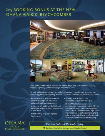 25 booking bonus at the new ohana waikiki ... - All About Hawaii