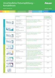 Unverbindliche Preisempfehlung – Kontaktlinsen - Ciba Vision