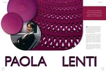 """""""Creo que una alfombra tiene la misma importancia ... - Paola Lenti"""