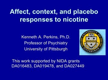 Affect, context, and placebo responses to nicotine