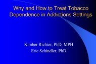 Why And How To Treat Tobacco Dependence In