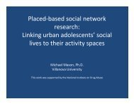 Placed-based social network research: Linking urban adolescents ...