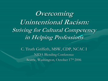 Unintentional Racism In Helping Professions