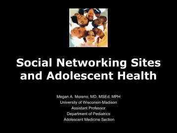 Social Networking Sites and Adolescent Health