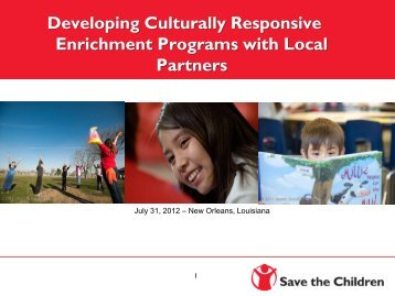 Developing Culturally Responsive Enrichment Programs with Local ...