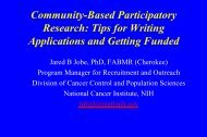 Community-Based Participatory Research