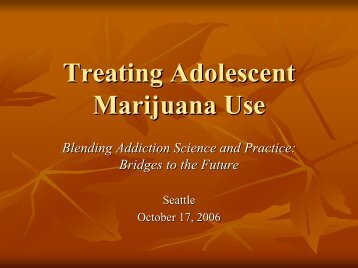 Treating Adolescent Marijuana Use