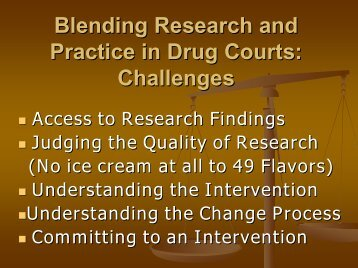 Blending Research and Practice: Some Realities