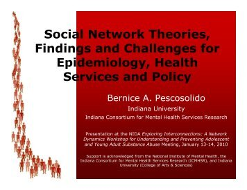 Social Network Theories, Findings and Challenges for Epidemiology ...
