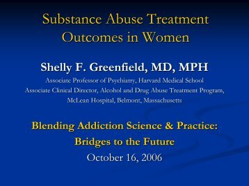 Substance Abuse Treatment Entry, Retention, and Outcome in Women