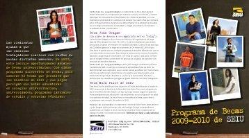 Programa de Becas 2009-2010 de SEIU