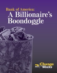 Download our complete report on Bank of America (PDF). - SEIU