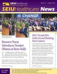 SEIU Healthcare Issue No. 15 October 14, 2008