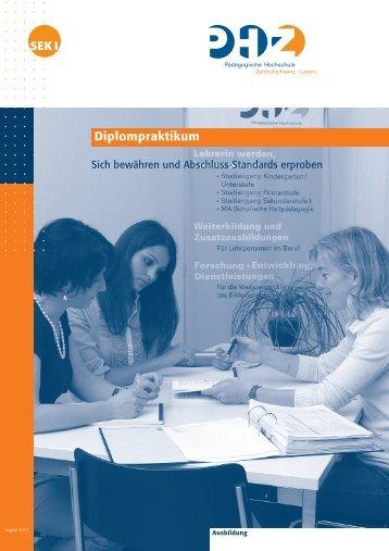 Diplompraktikum - Sekundarstufe I