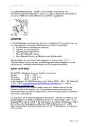 Bitte hier klicken! - Selbsthilfekontaktstelle Rosenheim - SeKoRo