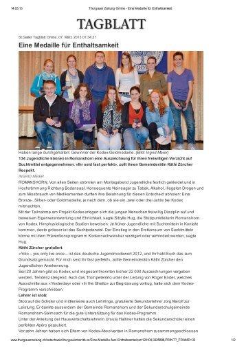 Zeitungsbericht Thurgauer Zeitung [PDF, 553 KB] - Sekundarschule ...