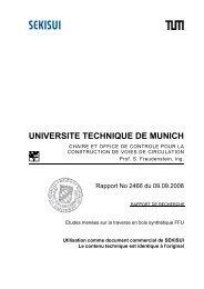 Rapport de contrôle de l'Université technique de Munich
