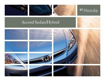 Accord Sedan /Hybrid - Honda