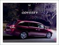 2013 ODYSSEY - Honda Cars