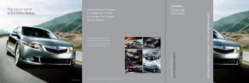 Acura Graduate Program Brochure - Honda