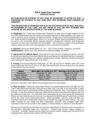 CR-V Leap Year Contest - Honda