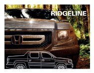 RIDGELINE - Honda