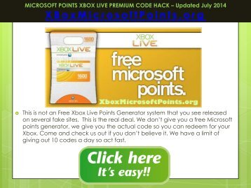 Free Microsoft Points - Free Xbox Live Codes