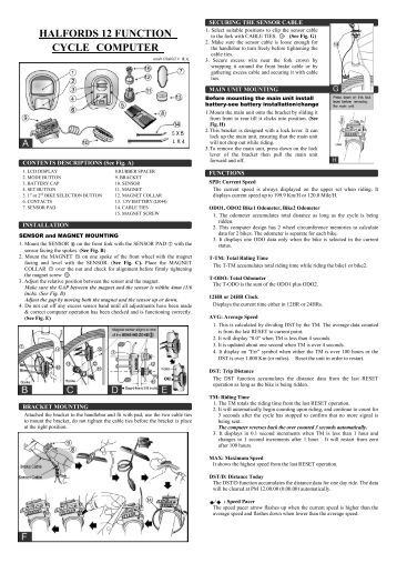 Halfords hi 3 bike instructions