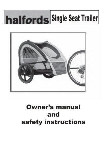 bell bike trailer manual pdf