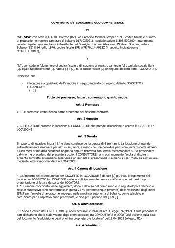 Contratto di locazione confcommercio unione venezia for Contratto di locazione arredato