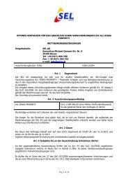 NORME PER LA PARTECIPAZIONE - SEL AG