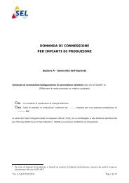 DOMANDA DI CONNESSIONE PER IMPIANTI DI PRODUZIONE
