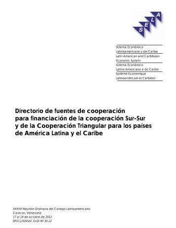 Directorio de fuentes de cooperación para financiación de la ... - SELA