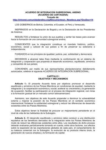 Acuerdo de Cartagena - SELA