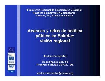 Avances y retos de política pública en Salud-e: visión regional - SELA