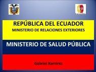 Ecuador: Gabriel Ramírez, Cooperador técnico del Ministerio ... - Sela