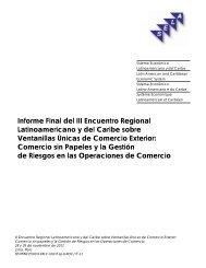 Informe Final del III Encuentro Regional Latinoamericano y ... - SELA