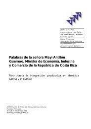 Palabras de la señora Mayi Antillón Guerrero, Ministra de ... - Sela