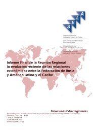 Informe Final de la Reunión Regional la evolución reciente ... - Sela