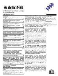 Integration Bulletin No. 166, Septembre 2011 - SELA