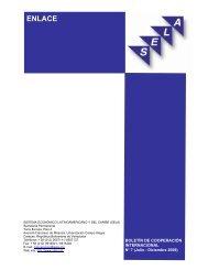 ENLACE Boletín de Cooperación Internacional No 7 (Julio ... - SELA