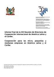 Informe Final de la XXI Reunión de Directores de ... - SELA