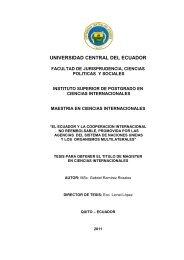 El Ecuador y la Cooperación Internacional no reembolsable ... - SELA