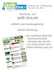 Werben auf selb-live.de