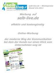 selb-live.de – Werbepreise Stand: 8.6.2011 Werbung auf der ...