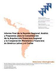 Informe Final de la Reunión Regional: Análisis y Propuestas ... - SELA