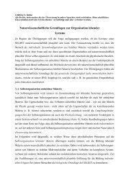 Naturwissenschaftliche Grundlagen zur Organisation lebender ...