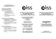 Angebote - KISS Kassel